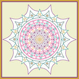 Image color mandala on a white background Royalty Free Stock Images