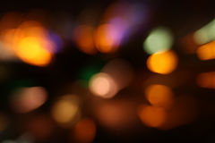 Image of colorful blurred defocused bokeh Lights. motion and nightlife concept Stock Photography