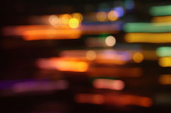 Image of colorful blurred defocused bokeh Lights. motion and nightlife concept Royalty Free Stock Photography