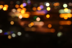 Image of colorful blurred defocused bokeh Lights. motion and nightlife concept Royalty Free Stock Photos