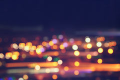 Image of colorful blurred defocused bokeh Lights. motion and nightlife concept.  stock photos