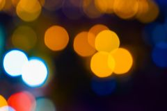 Image of colorful blurred defocused bokeh Lights. motion and nightlife concept. Elegant background. Image of colorful blurred defocused bokeh Lights. Motion and royalty free stock photography