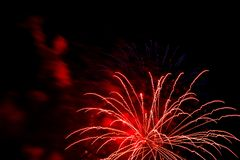 A bright and colorful fireworks celebration royalty free stock photo