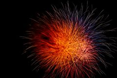 A bright and colorful fireworks celebration royalty free stock images