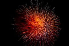 A bright and colorful fireworks celebration royalty free stock image