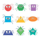 Image of colorful fun beautiful spiders Royalty Free Stock Photo