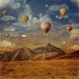 Image  of colorful hot air balloons against  sky Stock Image