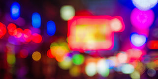 Image of colorful lights in the asian street Stock Image