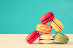Image of colorful macaron or macaroon Royalty Free Stock Photos
