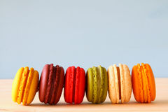 Image of colorful macaron or macaroon Stock Photos