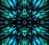 BLUE AND TURQUOISE COLOUR BURST. Image of a colour burst in black, blue and turquoise colours stock illustration