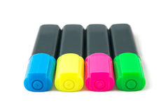 Image of colour highlighters Stock Photos