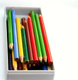 Coloured pencil on a table. Image of coloured pencil on a table royalty free stock photo
