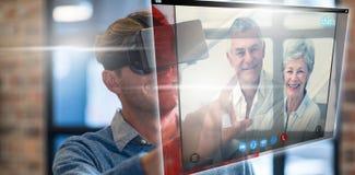 Image composée d'écran d'un appel visuel Photos libres de droits