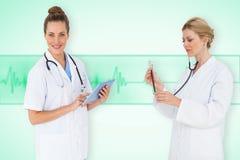 Image composée d'équipe médicale Photographie stock