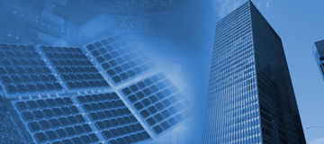 Image composée d'équipement solaire moderne contre l'écran blanc 3d Image stock
