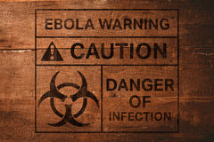 Image composée d'alerte de virus d'ebola Image libre de droits