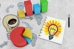 Image composée d'ampoule d'idée Photographie stock