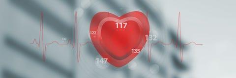 Image composée d'application de la fréquence cardiaque 3d Photo stock