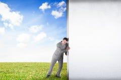 Image composée d'homme d'affaires éloignant la scène Photo libre de droits
