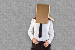 Image composée d'homme d'affaires anonyme avec des mains dans la ceinture photo stock