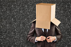 Image composée d'homme d'affaires anonyme boutonnant sa veste images libres de droits