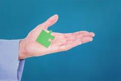 Image composée d'homme d'affaires bel faisant des gestes avec des mains Images libres de droits