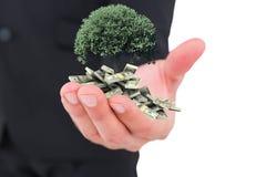 Image composée d'homme d'affaires donnant sa main Photo libre de droits