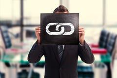Image composée d'homme d'affaires montrant le conseil Images stock
