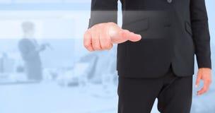 Image composée d'homme d'affaires se dirigeant avec le doigt image libre de droits