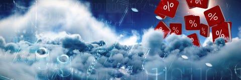 Image composée d'icône de vecteur de signe de pour cent Image stock
