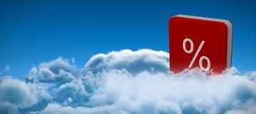 Image composée d'icône de vecteur de signe de pour cent Photographie stock libre de droits
