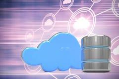 Image composée d'icône et de nuage de serveur de base de données Images libres de droits