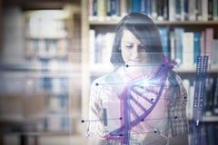 Image composée d'illustration de l'ADN image libre de droits