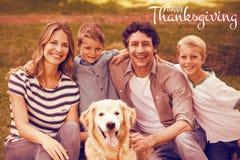 Image composée d'illustration de la salutation heureuse des textes de jour de thanksgiving illustration de vecteur
