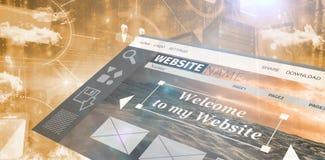 Image composée d'image composée d'interface de site Web illustration stock