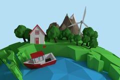 Image composée d'image composée d'une partie d'icônes 3d d'un globe illustration de vecteur