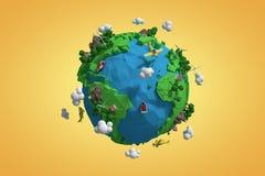 Image composée d'image composée de l'icône 3d de globe Photos stock