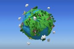 Image composée d'image composée de l'icône 3d de globe Photos libres de droits