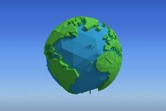 Image composée d'image composée de l'icône 3d de globe Photographie stock