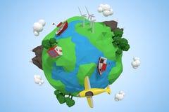 Image composée d'image composée des icônes 3d de globe Photo libre de droits
