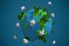 Image composée d'image composée des icônes 3d de globe Photos stock