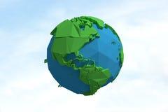 Image composée d'image composée des icônes 3d de globe Photographie stock libre de droits