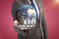 Image composée d'image digitalement genearated de la terre 3d Image libre de droits