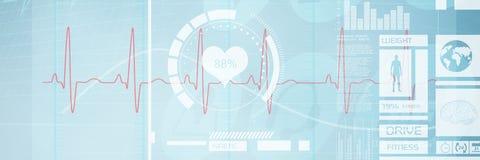 Image composée d'image digitalement produite de l'électrocardiographie 3d Photographie stock