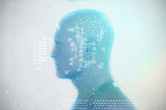 Image composée d'image digitalement produite de la représentation humaine 3D Images libres de droits