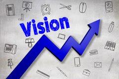 Image composée d'image digitalement produite de texte de vision Image stock