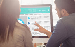 Image composée d'image graphique de site Web de compte bancaire images libres de droits