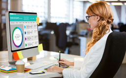 Image composée d'image graphique de site Web de compte bancaire photographie stock