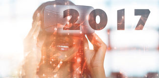 Image composée d'image numérique de la nouvelle année 2017 Images libres de droits